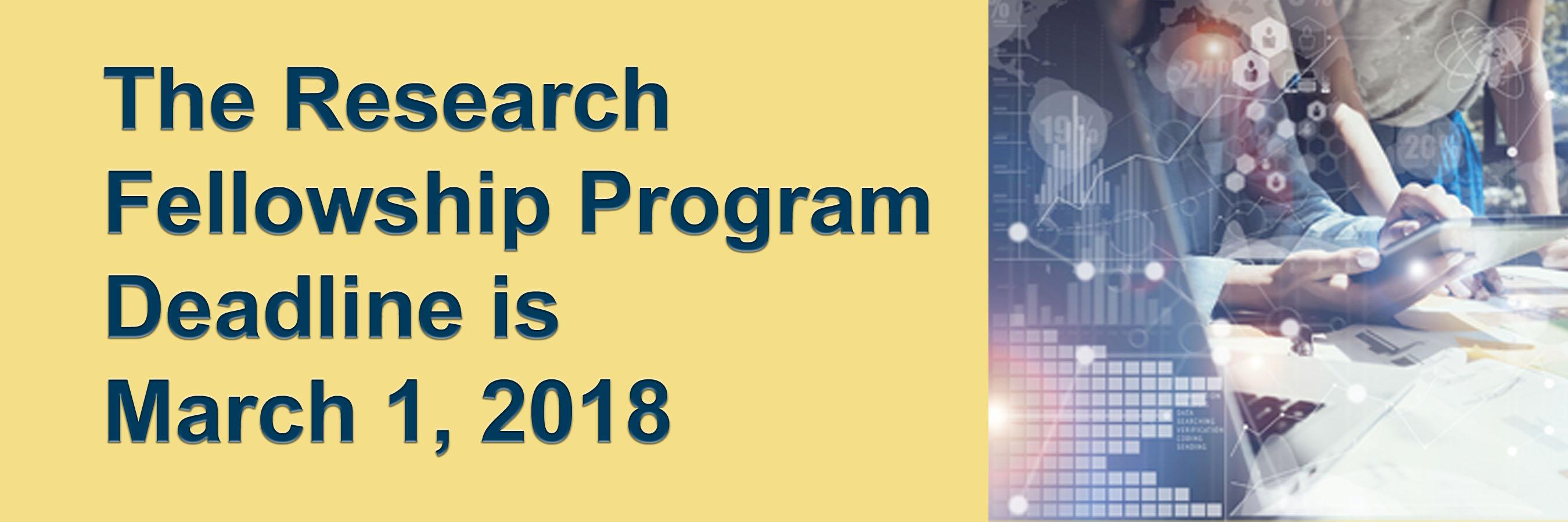 Research Fellowship Deadline
