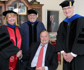 Bush receives degree